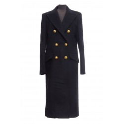 ALEXANDER VAUTHIER COAT WITH GOLD BUTTONS