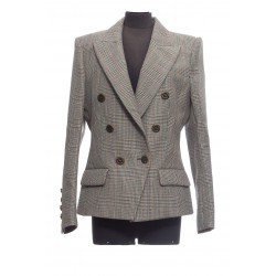 ALEXANDER VAUTHIER 6 BUTTON CHECK JACKET