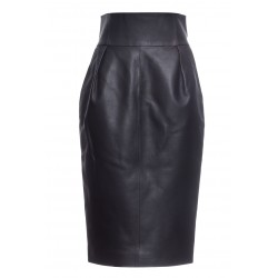 ALEXANDER VAUTHIER LEATHER PENCIL SKIRT