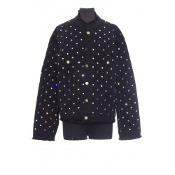 ALEXANDER VAUTHIER JEANS JACKET WITH STRASS