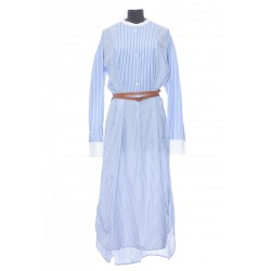 LOEWE STRIPED TUNIC DRESS WITH BELT COMES WITH