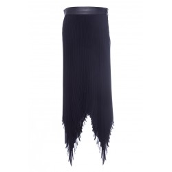 LOEWE LONG SKIRT WITH LEATHER BELT