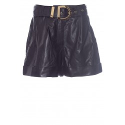 BALMAIN HIGH WAIST SHORTS GOLD BELT
