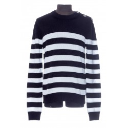 BALMAIN 3-BUTTON SWEATER