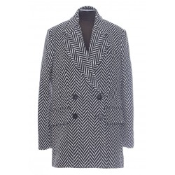 STELLA MCCARTNEY MANTEAU 3/4 CHEVRON