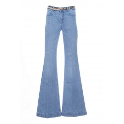 STELLA MCCARTNEY JEANS EVASE LOGO BELT