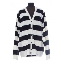 MARC JACOBS THE GRUNGE CARDIGAN OVERSIZE STRIPED CARDIGAN