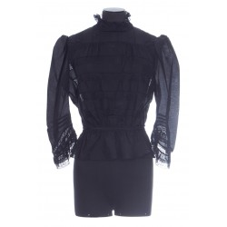 MARC JACOBS THE VICTORIAN BLOUSE 3/4 SLEEVE LACE TOP