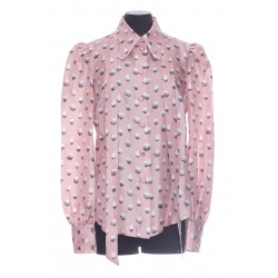 MARC JACOBS THE BLOUSE PRINTED NUDE DRESS