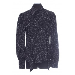 MARC JACOBS THE BLOUSE WITH NAVY DOTS PRINT