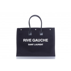 SAINT LAURENT RIVE GAUCHE CANVAS SHOPPING FOR WOMEN ALSO