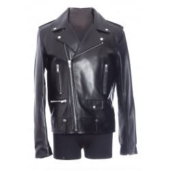 SAINT LAURENT BIKER LAMB LEATHER DIVING