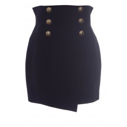 BALMAIN HIGH WAIST SKIRT WITH BUTTONS
