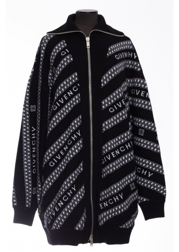 GIVENCHY,CARDIGAN OVERSIZE CHAINES