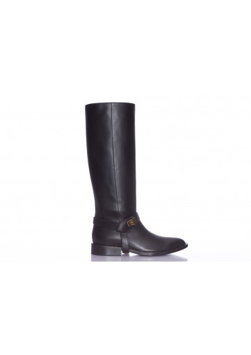 GIVENCHY,BOTTES CAVALIERE BOUCLE OR
