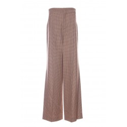 CHLOÉ LARGE CHECKED HOUNDSTOOTH TROUSERS