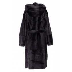 YVES SALOMON REVERSIBLE BELT SHIRLING COAT