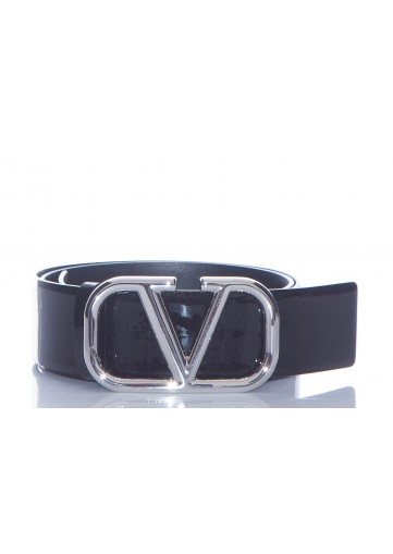 VALENTINO CEINTURE V COVERED CUIR VERNIS 40MM