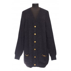 CELINE CARDIGAN LONG POCHES CELINE OR