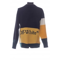 OFF-WHITE PULL COL MONTANT OFF WHITE TRICOLOR