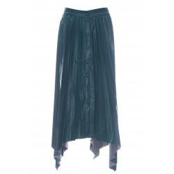 ISABEL MARANT DAVIESAE PLEATED LEATHER SKIRT