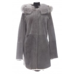 YVES SALOMON REVERSIBLE LACON COAT