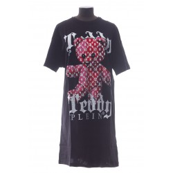 PHILIPP PLEIN T-SHIRT SHORT DRESSES MONOGRAM TEDDY BEAR