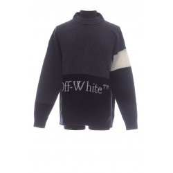 OFF-WHITE OFF WHITE TRICOLOR HIGH NECK SWEATER
