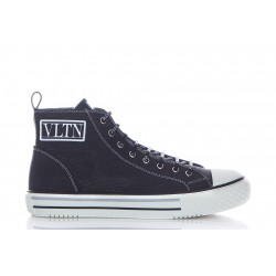 VALENTINO GIGGIES HIGH-TOP FABRIC SNEAKER