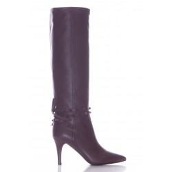 VALENTINO ROCKSTUD FLAIR SUEDE BOOT 85MM