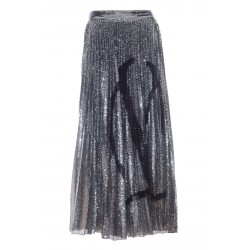 VALENTINO JERSEY SKIRT WITH VLOGO SIGNATURE