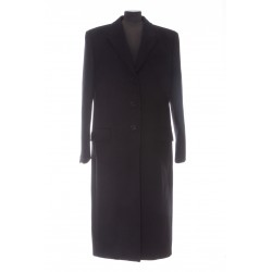 SAINT LAURENT LONG BUTTONED COAT IN WOOL TWILL