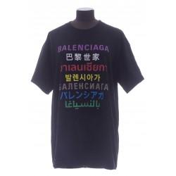 BALENCIAGA LANGUAGES MEDIUM FIT T-SHIRT