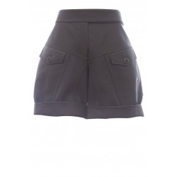 ALEXANDRE VAUTHIER LEATHER SHORTS LAMBSKIN / LINING POLYESTER
