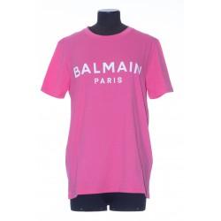 BALMAIN SS PRINTED LOGO T-SHIRT W/O BUTTONS