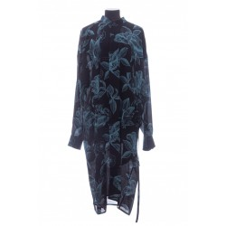 GIVENCHY FLORAL SCHEMATICS SHIRT DRESS IN SILK