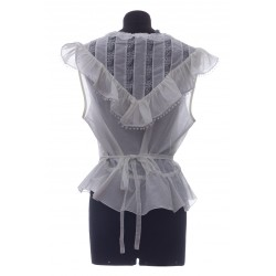 MARC JACOBS THE VICTORIAN TOP COTTON SILK VOILE