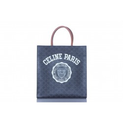 CELINE LARGE VERTICAL CABAS IN TRIOMPHE CANVAS TAN