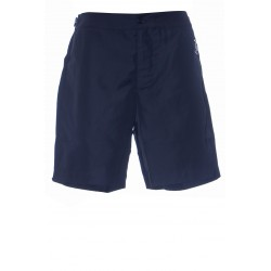 DOLCE & GABBANA MID-LENGTH SWIM SHORTS WITH BRANDED PLATE