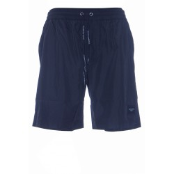DOLCE & GABBANA MID-LENGTH SWIM TRUNKS WITH BRANDED PLATE