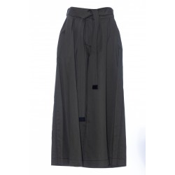 LOEWE CROPPED BELTED TROUSERS COTTON/WOOL