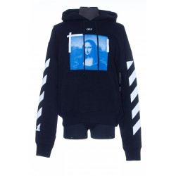 OFF WHITE BLUE MONALISA OVER HOODIE