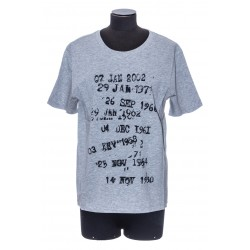 """SAINT LAURENT """"ARCHIVE DATES"""" T-SHIRT IN HEATHERED JERSEY"""