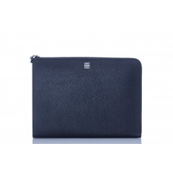 GIVENCHY BIG POUCH WITH GUSSET GRAINED  LEATHER - SLG