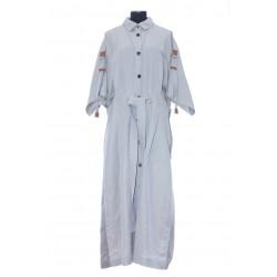 LOEWE BELTED MIDI SHIRT DRESS