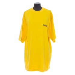 BALENCIAGA MEN'S POLITICAL CAMPAIGN LARGE FIT T-SHIRT IN YELLOW