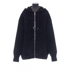 GIVENCHY KNITWEAR ZIPPED HOODIE 4G VELOURS