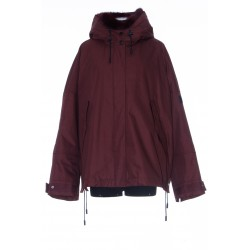 YVES SALOMON CROPPED PARKA IN TECHNICAL COTTON