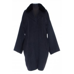 YVES SALOMON CASHMERE WOOL COAT WITH MINK