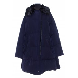 YVES SALOMON 3/4 DOWN JACKET IN TECHNICAL FABRIC